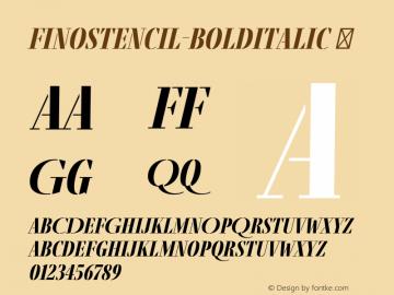 FinoStencil-BoldItalic