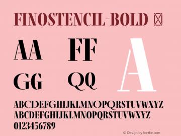 FinoStencil-Bold
