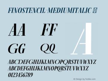 FinoStencil-MediumItalic