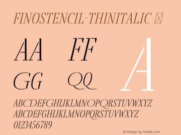 FinoStencil-ThinItalic