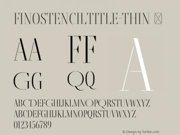FinoStencilTitle-Thin