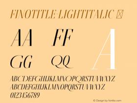 FinoTitle-LightItalic
