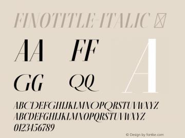 FinoTitle-Italic