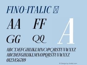 Fino-Italic