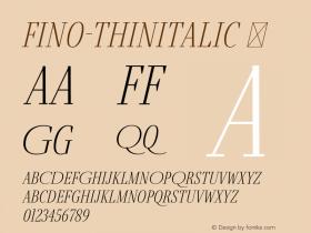 Fino-ThinItalic