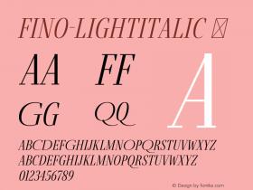 Fino-LightItalic