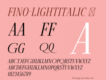 Fino-LightItalic