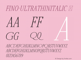 Fino-UltraThinItalic