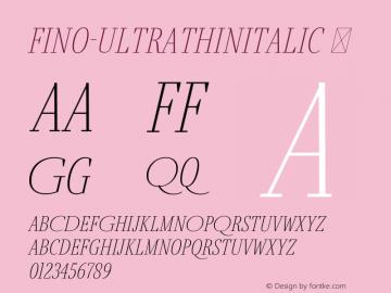 Fino-UltraThinItalic