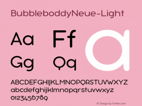 BubbleboddyNeue-Light