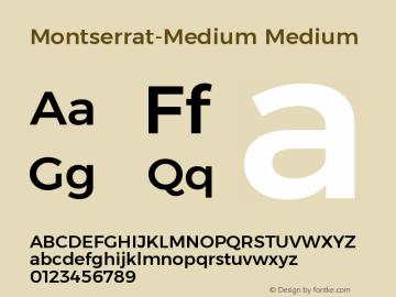 Montserrat-Medium