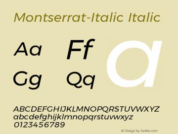 Montserrat-Italic