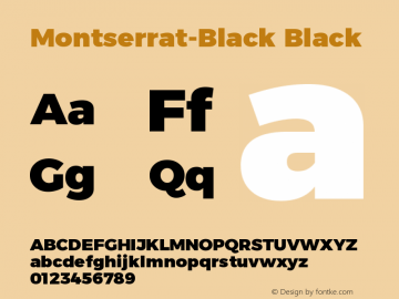 Montserrat-Black