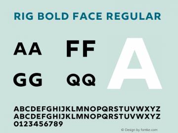 Rig Bold Face