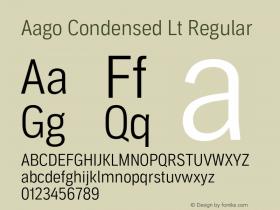 Aago Condensed Lt