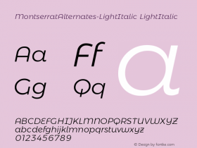 MontserratAlternates-LightItalic