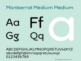 Montserrat Medium