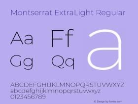 Montserrat ExtraLight