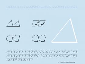 Disco Deck Outline Italic