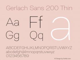 Gerlach Sans 200