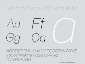 Gerlach Sans 201