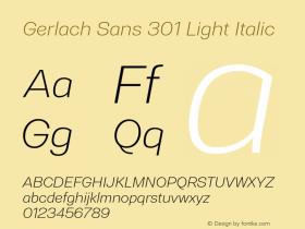 Gerlach Sans 301