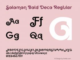 Solomon Bold Deco