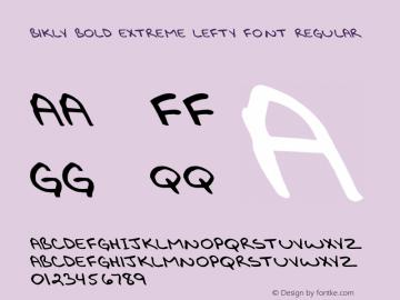 Bikly Bold Extreme Lefty Font