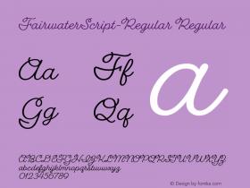 FairwaterScript-Regular