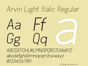 Arvin Light Italic
