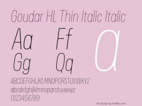Goudar HL Thin Italic
