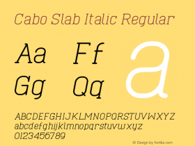 Cabo Slab Italic