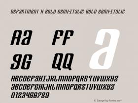 Department H Bold Semi-Italic