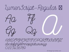 LumenScript-Regular