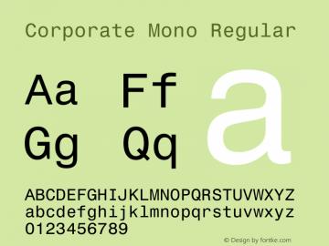 Corporate Mono