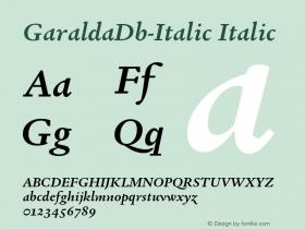 GaraldaDb-Italic