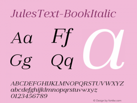 JulesText-BookItalic