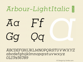 Arbour-LightItalic