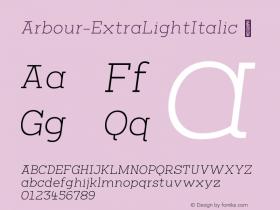 Arbour-ExtraLightItalic