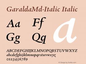 GaraldaMd-Italic