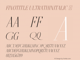 FinoTitle-UltraThinItalic