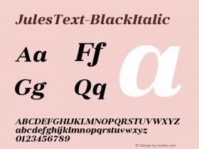 JulesText-BlackItalic