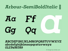 Arbour-SemiBoldItalic