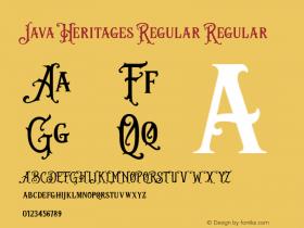 Java Heritages Regular