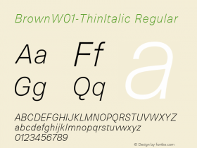 Brown-ThinItalic