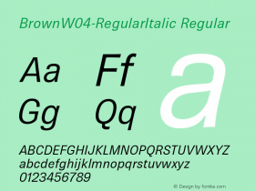 Brown-RegularItalic