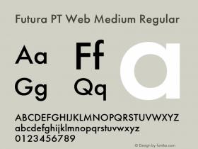 Futura PT Web Medium