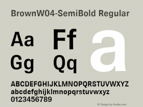 Brown-SemiBold