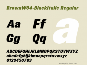 Brown-BlackItalic