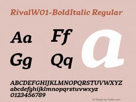 Rival-BoldItalic